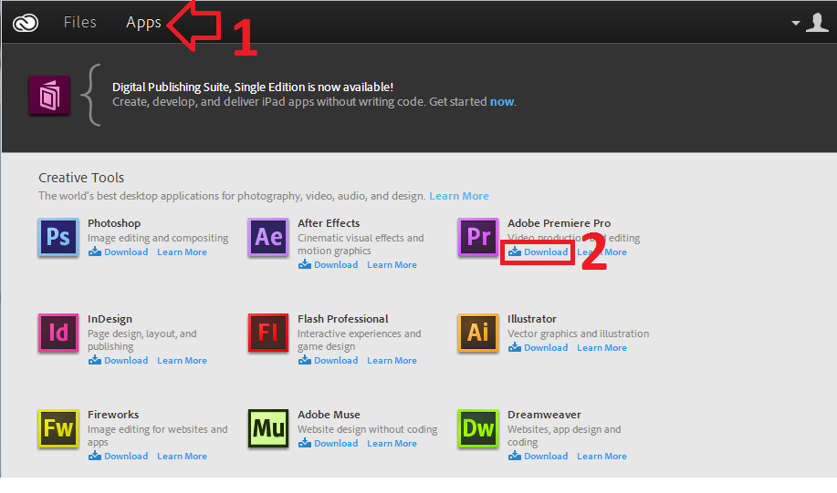 Adobe creative cloud encore download