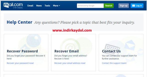 Mail-com Şifre Sıfırlama